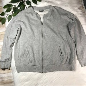 ASOS Zip-up Light Grey Sweatshirt Sweatjacket 14